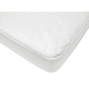American Baby Company Waterproof Fitted Quilted Crib and Toddler Protective Pad Cover, White