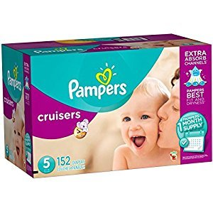 Pampers Cruisers Disposable Baby Diapers Size 5, One Month Supply, 152 Count