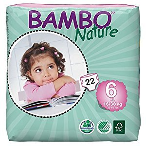 Bambo Nature Baby Diapers Classic, Size 6, (35-66 lbs), 22 Count, 1.159 kilograms