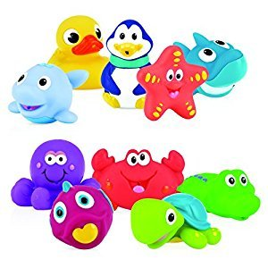 Nuby 10-Piece Bath Squirters, Multi