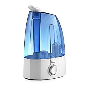 TaoTronics Humidifiers Ultrasonic with Cool Mist, Classic Dial Knob Control, 3.5L Large Capacity, Two 360 degree Rotatable Outlets TT-AH002 Blue Version