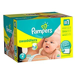 Pampers Swaddlers Disposable Baby Diapers Size 2, One Month Supply, 204 Count
