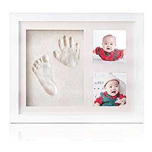 Baby Hand and Footprint Kit,Newborn Baby Shower Gift Keepsake for Registry,Wooden Photo Frame,Baby footprint Kit Decorations for Room or Nursery Decor