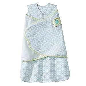 Halo Innovations SleepSack Swaddle Cotton Diamond, Turquoise, Small