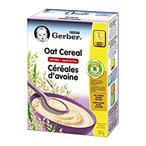 Gerber Baby Cereal, Oat, Add Water, 227-Gram