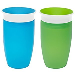 Munchkin 2 Pack Miracle 360⁰ 10oz Sippy Cup/Blue and Green