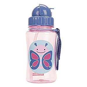 Skip Hop Zoo Straw Bottle, 12 oz, Blossom Butterfly