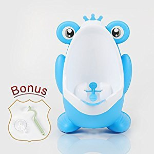 Meetbaby Cute Frog Children Potty Training,Restroom Portable Urinal For Toddlers,Education Infant Kids Toilet Seat Training Target Baby Boys,Pee Travel Potty Trainer With Funny Aiming Target ( Blue)