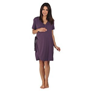 BambooMama Women's Birthing Wrap - For Pregnancy, Labor and Nursing -Extra Large (Pre-pregnancy US Size 16-18)-Dark Plum