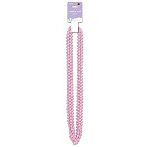 Beistle 50569-P 6-Pack Pink Baby Shower Beads, 33-Inch