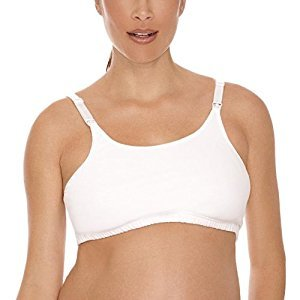 Lamaze Cotton Spandex Comfort Nursing Bra - White, XL
