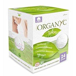 Organyc 1600584 100 Percent Organic Cotton Nursing Pads - 24 Count