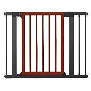 Munchkin 31283 Wood Steel Designer Gate (Dark Wood/Silver)