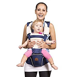 Bebamour New Style Designer Baby Carrier and Baby Sling Carrier 2 in 1 (Dark blue)