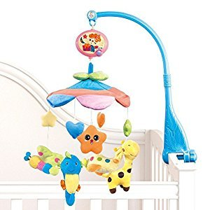 NextX Baby Musical Mobile Bedding Crib with Hanging Rotating Soft Colorful Plush Dolls, 20 Melodies-Flash
