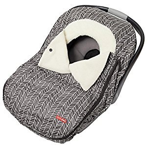 Skip Hop Stroll and Go Car Seat Cover, Grey Feather