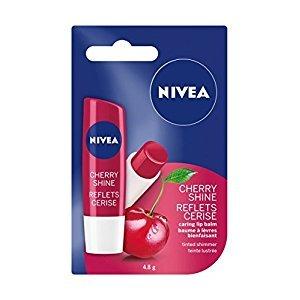 NIVEA Cherry Shine Tinted Shimmer Caring Lip Balm Stick, 4.8g