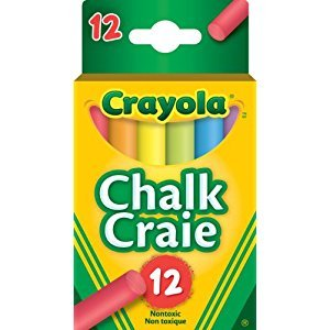 Crayola 12 Colourex Coloured Chalk