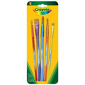 Crayola 5 Assorted Premium Paint Brushes