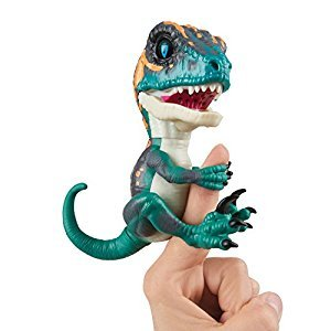 Untamed Raptor by Fingerlings - Fury (Blue) - Interactive Collectible Baby Dinosaur - By WowWee