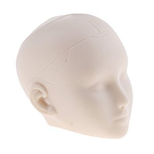 Baoblaze 1/6 Female Head Sculpt, Doll Head Parts, Practice Makeup for 12 inch Figures