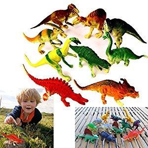 Educational Realistic Looking Large Dinosaurs Allosaurus Tyrannosaurs Stegosaurus... 12 Pce