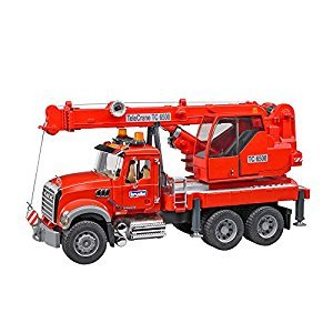 Bruder 02826 Mack Granite Crane Truck with Light & Sound Vehicle Playsets