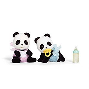 Calico Critters CC1508 Wilder Panda Bear Twins Plush
