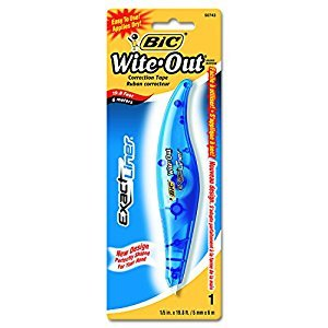 BIC Wite-Out Exact Liner Correction Tape, White, 1-Pack