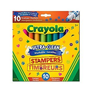 Crayola Ultra, Clean Washable Stampers Markers, 10 CT
