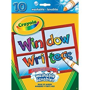 Crayola Washable Window Markers, Easter Gifts for Kids, Easter Basket Stuffers