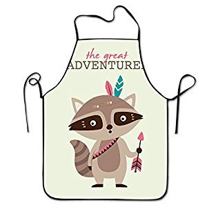 Tribal Cartoon Animals The Adventure Raccoon Deluxe Aprons Personalized Printing Kitchen Apron