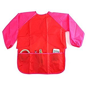 Waterproof Kids Children Painting Drawing Cooking Apron Smock with 3 Pockets