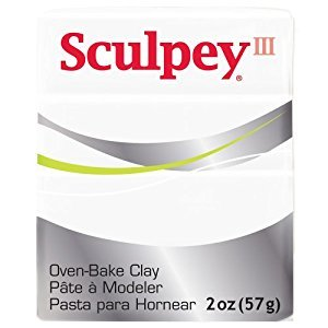 Sculpey S302 001 Oven Bake Clay III-White