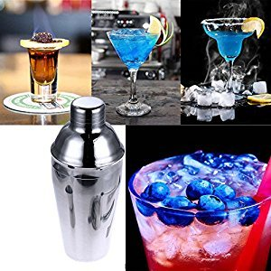 20 oz Cocktail Shaker Stainless Steel, MeiLiio 550ML Professional Bartender Stainless Steel Cocktail Shaker Wine Tools Barware Tools Milky Tea Tools for Home Bars Hotels Places of Entertainment