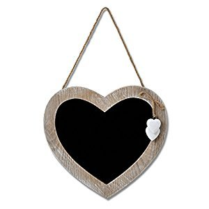 Hill Interiors Hearts Collection Heart Chalk Board (One Size) (Light Brown/Black)