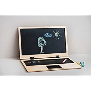 Kids chalkboard Wood kids blackboard Children wood computer Personalized chalkboard computer Personalized wooden Blackboard for Drawings (with engraving)