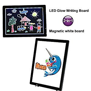 LED Glow Board - Light-up Message Board Magnetic whiteboard for Drawing Writing (1)