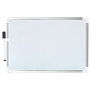 VIZ-PRO Children Drawing Board/Kids Writing Whiteboard, Silver Plastic Frame-A4