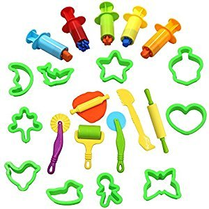 Md trade 21Pcs Smart Clay and Dough Tools Set with Extruder Tools,Star, Moon, Butterfly, Tree Models for Kids