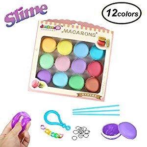 Swallowzy Macarons Slime Crystal Clay Jelly Toy Soft Mud DIY Clay Magic Plasticine Stress Relief Toy For Kids 12PCS
