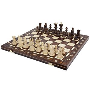 Chess Set - Ambassador High Detail European Wooden Handmade Set - 21