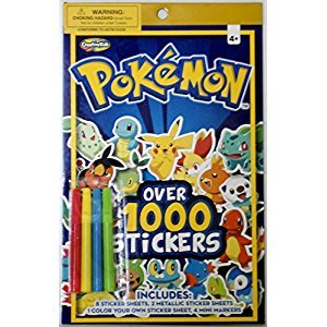 Pokemon Sticker Book 1000 Stickers