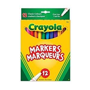 Crayola 12 Fine Line Original Markers