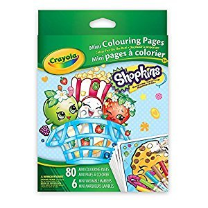 Crayola Mini Coloring Pages, Shopkins