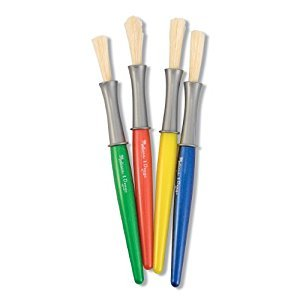 Melissa & Doug Large Paint Brush Set With 4 Kids' Paint Brushes