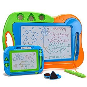 2 Pieces Magnetic Doodler Sketch - Colorful Screen Erasable Drawing Board Toddler Toy by Hanmun