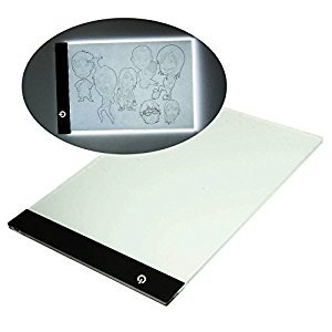 A4 Ultra-thin Portable LED Light Box for Tracing LED Drawing Tablet with Free USB Connecting Line Upgraded Version By Brooke & Celine