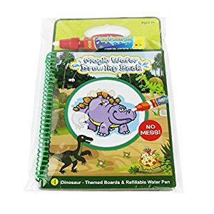 Animal Dinosaur water Coloring Book with water pen for Kids Water Activity Book Paint With Water Book for toddlers