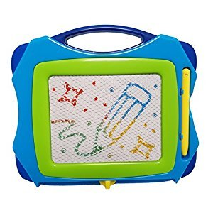 Mini - Travel Size Erasable Color Magnetic Drawing Board (Magna Doodle) for Kids/ Toddlers/ Babies with 1 Pen